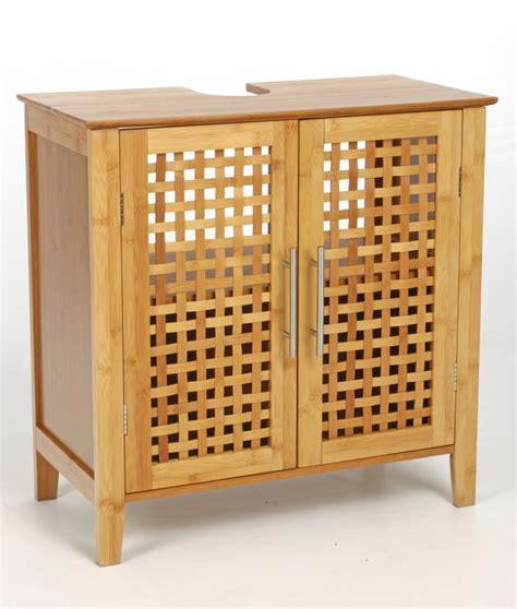 meuble cuisine salle de bain meuble sous lavabo bambou