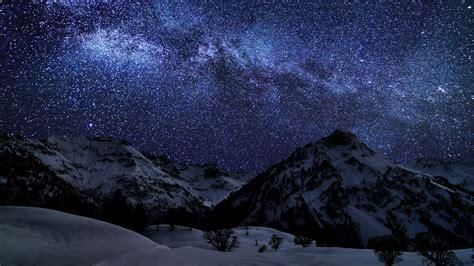Download Wallpaper 1920x1080 Winter, Sky, Stars, Nature