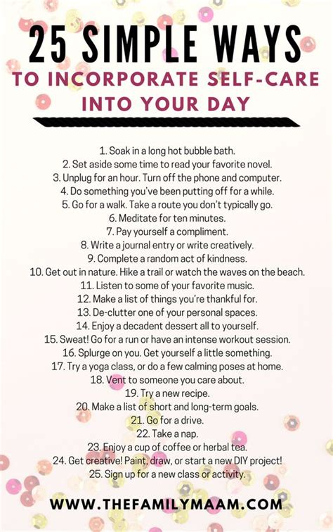 simple ways  incorporate  care   day