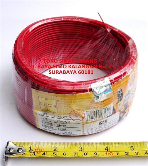 jual kabel listrik nya 1 5 mm kitani 50 m merah cable kawat 1 5 mm engkel tunggal di lapak