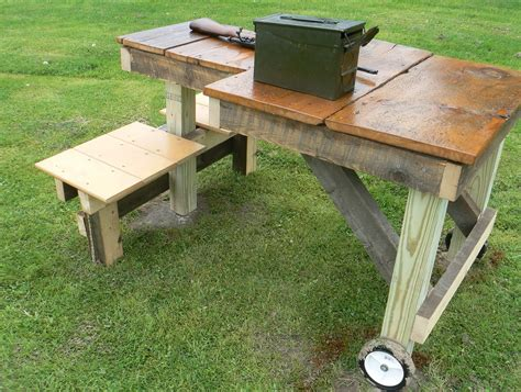 folding shooting bench plans home design ideas