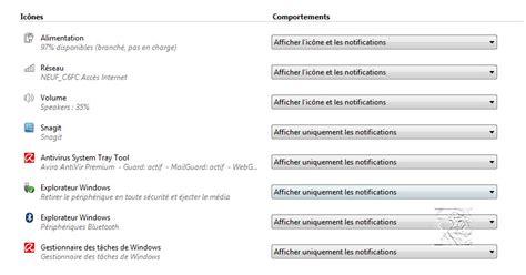 bureau windows 8 disparu purger la zone de notification des anciennes icônes