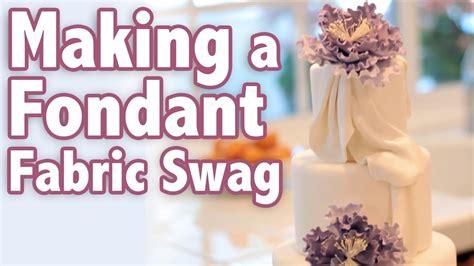 fondant fabric swag cake tutorial youtube