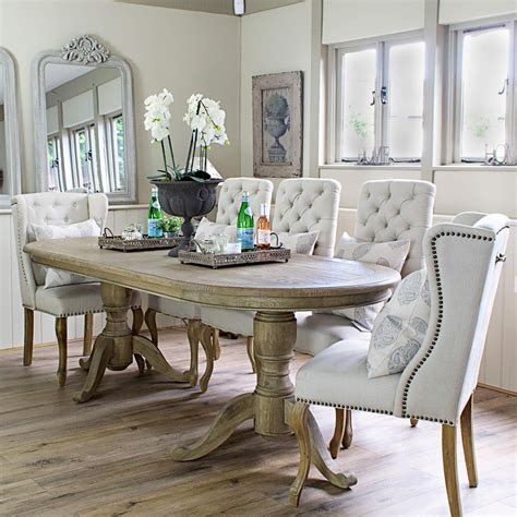 large oval oak dining table
