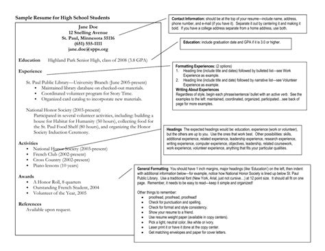 How To Present Your Resume by Sle Resume For High School Students