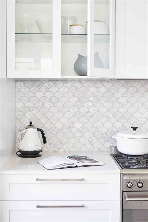 white marble kitchen backsplash ideas youll love