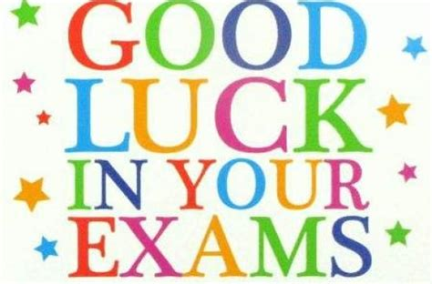 Good Luck In Your Exams!