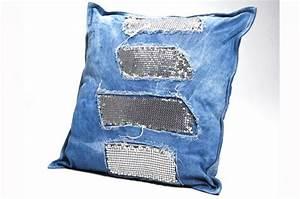 Coussin 45x45 Pas Cher : coussin jeans glams 45x45 coussins pas cher declik deco ~ Teatrodelosmanantiales.com Idées de Décoration