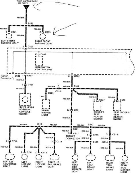 1991 Honda Accord Brake Light Wiring Diagram by 91 Honda Accord No Lights Dash Lights Yellow