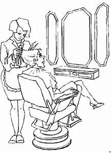 Frau Beim Friseur Ausmalbild Malvorlage Sonstiges