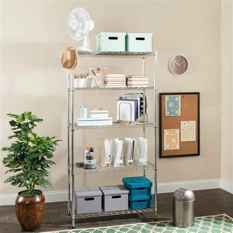 Decorative Storage Shelves - 5 tier heavy duty wire 60 in x 24 in x 72 in