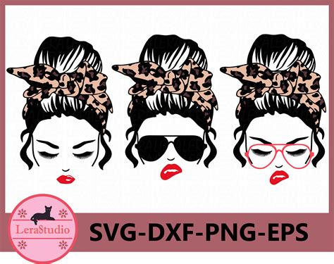 Available for download now product code: 60 % OFF, Messy Bun bandana Leopard svg, Mom life svg ...