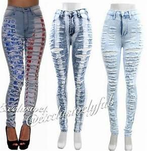 Women Cut Up Jeans - Oasis amor Fashion