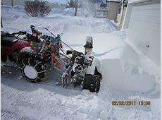 ATV Snowblower Homemade PlowSite