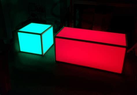 wood and metal bar stools light up rgb led coffee table set