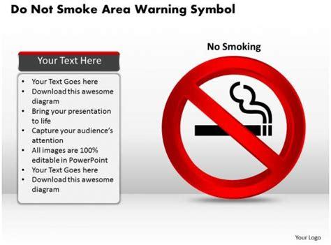 smoke area warning symbol powerpoint template