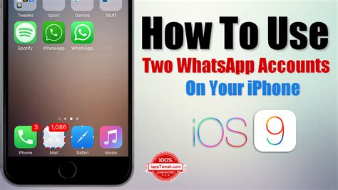 how to use an iphone how to use two whatsapp accounts on your iphone without