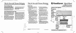Foodsaver Turbo Plus User Manual