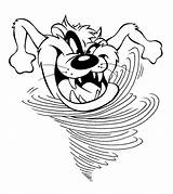 Devil Tasmanian Coloring Pages Cartoon Taz Drawing Tunes Looney Tazmanian Cliparts Demon Tazmania Hurricane Hurricanes Bugs Bunny Getcolorings Cartoons Printable sketch template