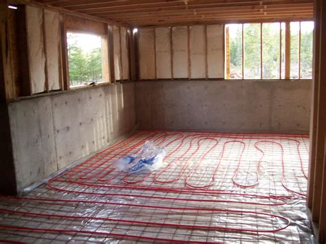and then there were ten radiant heat basement floors and