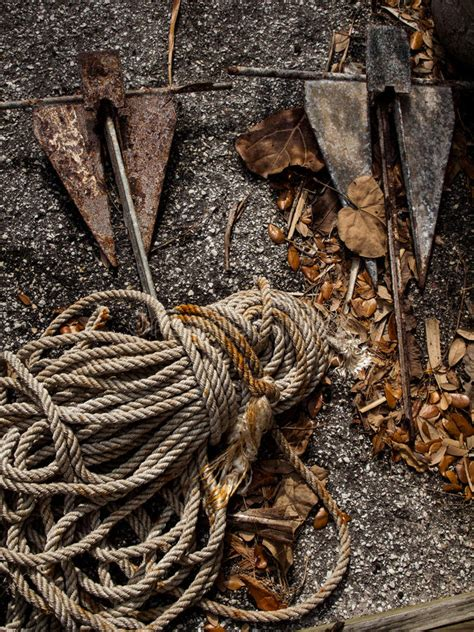 Boat Ground Anchor by Boat Anchors Stock Photo Image 50556827