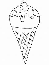 Ice Cream Coloring Cone Icecream Pencil Snow Sundae Waffle Drawing Everybody Pages Printable Print Sheet Getcolorings Bowl Getdrawings sketch template
