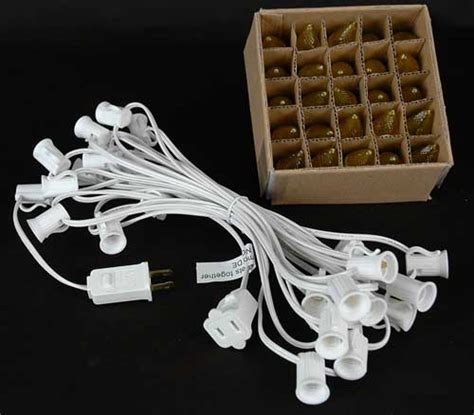 gold christmas lights white wire yellow led c7 outdoor string light set on white wire