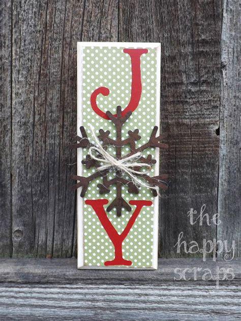 diy christmas joy signs