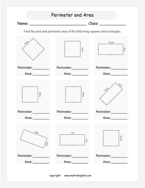 math perimeter worksheets geometry worksheets area