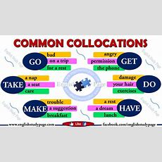 Common Collocations In English  English Study Page