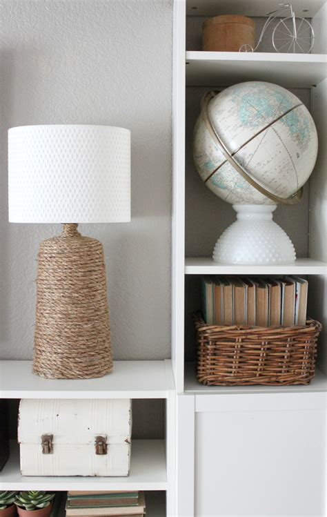 rustic rope wrapped lamp base  inspired nest