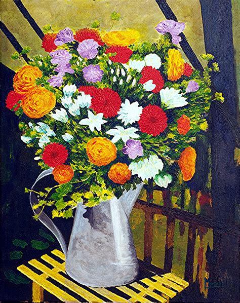 tableau peinture acrylique sur toile bouquet de fleurs peintures par peinturesmoresomanuel
