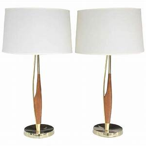 Mid century modern wood table lamp floor lamps for Modern timber floor lamp