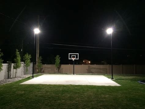 5776 home backyard basketball court lighting step by