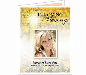 funeral memorial cards or funeral bulletins hope With in memory cards templates