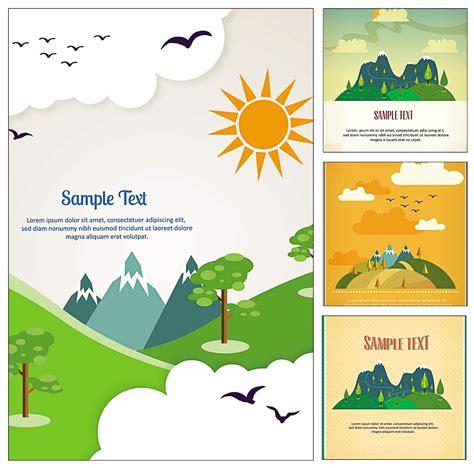travel postcard illustration vector