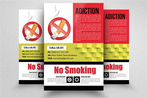 smoking flyer template ad flyer templates