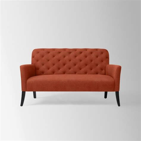 Elton Settee by Elton Settee Poppy Performance Velvet Contemporary