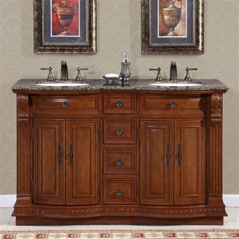 55 inch double sink vanity 55 quot silkroad empress double sink cabinet bathroom vanity