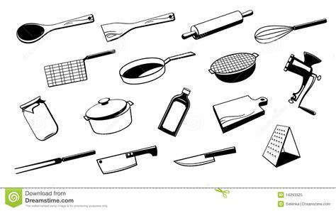 dessin d ustensiles de cuisine outil d 39 ustensile de cuisine illustration de vecteur