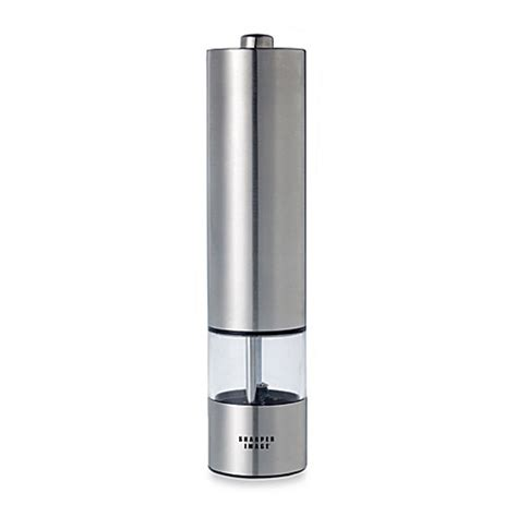 battery operated electric battery operated electric stainless steel pepper mill