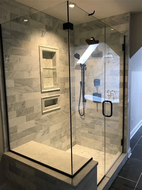 Bathrooms With Rubbed Bronze Fixtures by Hton Marble Tile Rubbed Bronze Shower