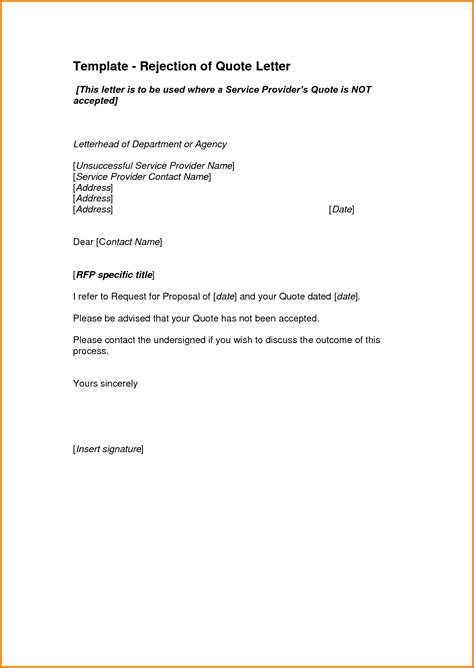 Price Quotation Email Template