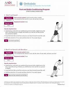 Foot And Ankle Rehabilitation Exercises - Orthoinfo