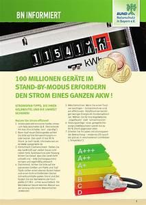 Spülmaschine Kein Strom : bn informiert stromspar tipps by bund naturschutz in bayern e v issuu ~ Orissabook.com Haus und Dekorationen