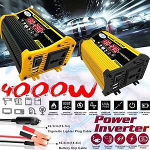 Usb High Quality Converter Peaks Power 4000w Car Solar