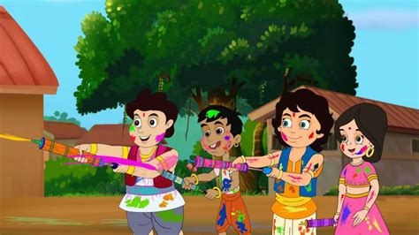 celebrate holi  kisna  friends  discovery kids