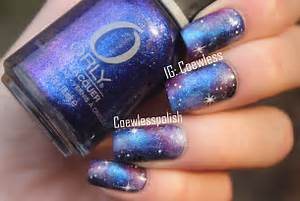 Nails space nail art galaxy design how to do