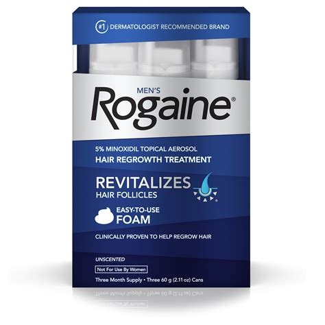 Men's ROGAINE® 5% Minoxidil Topical Foam Three Month