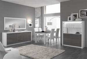 Meuble Gris Et Blanc : meuble tv plasma fano laqu blanc et gris brillant blanc gris brillant l 150 x h 50 x p 50 ~ Teatrodelosmanantiales.com Idées de Décoration